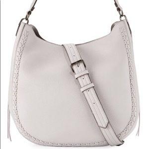 Rebecca Minkoff light grey hobo bag